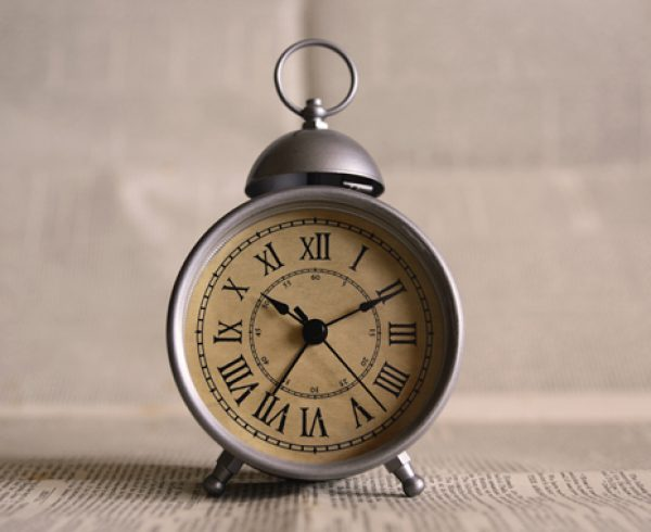 Old fashion round alarm clock