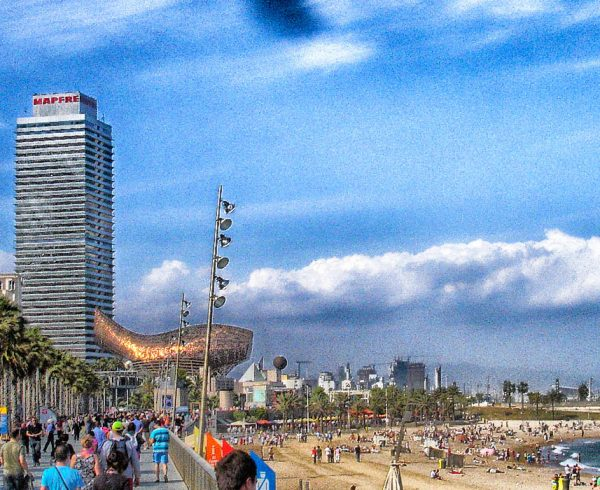 Barcelona Walkway and Beach