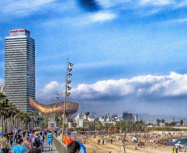 Barcelona Walkway and Beach